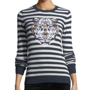 Autumn Cashmere Tiger Crewneck Cashmere Sweater